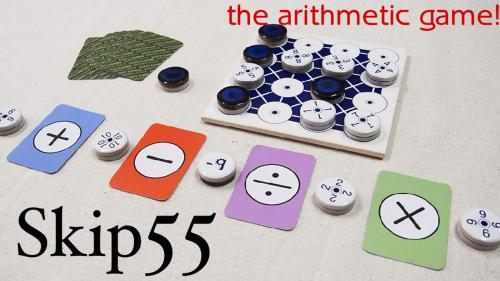 Skip55 the arithmetic board game
