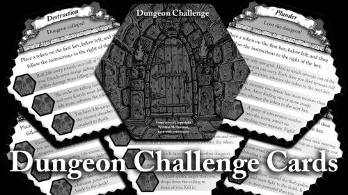 Dungeon Challenge Cards - For use with many tabletop RPGs.