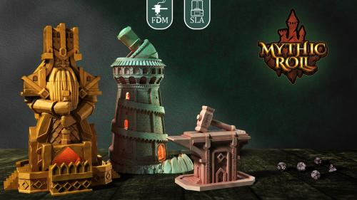 Mythic Roll | 3D Printable Dice Towers & Dice Boxes