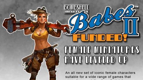 Bombshell Babes 2 - Female Miniatures