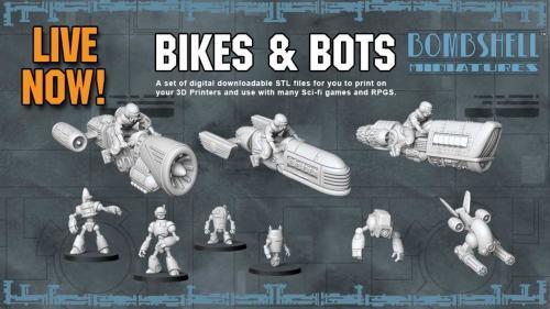 BIKES & BOTS - 3D Printable Tabletop Models