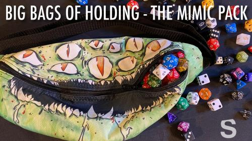 Bag of Holding - Mimic Fanny Packs for Dice and Loot. DnD