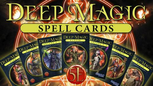 Deep Magic Spell Cards for 5th Edition