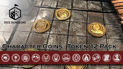 Character Coins: RPG Token Sets by Dice Dungeons