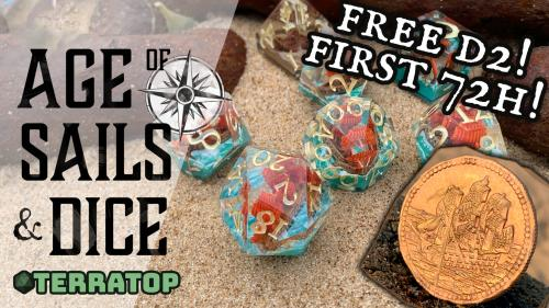 Age of Sails and Dice. Handcrafted ships in dice