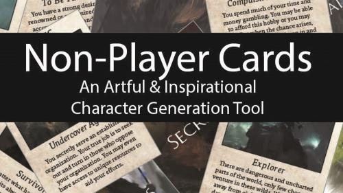 Non-Player Cards: An Artful & Inspirational Generation Tool