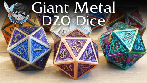 Giant Metal D20 Dice