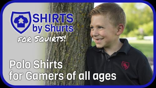 Polo Shirts for Gamers - Shirts by Shurts Junior Edition