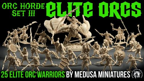 3d printable ELITE ORCS sculpted by Medusa Minis 7 days!