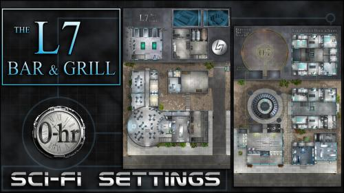 L7 Bar & Grill: sci-fi miniature-scale map