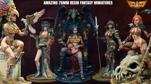 Stunning 75mm Resin Fantasy Miniatures