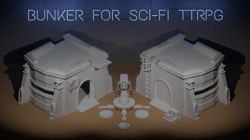 Pay What You Want - 3D Printable Bunker For Sci-Fi TTRPG