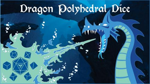Dragon Themed Polyhedral RPG Dice Set