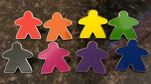 The Rainbow Meeple Pin Project!