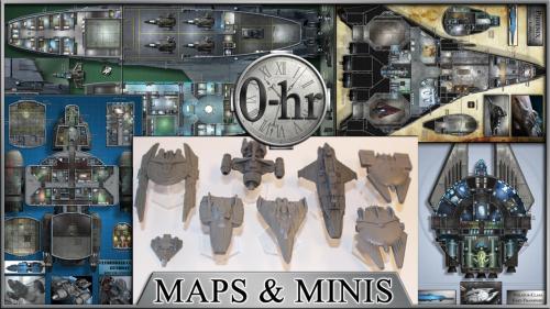 0-hr: Starship Maps & Miniatures