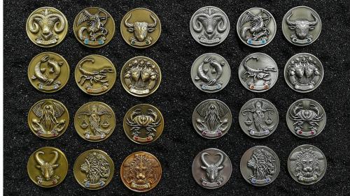My Zodiac Coin - Swarovski® Crystals, 3D, Glow-In-Dark