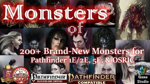 Monsters of Aquilae: 200+ Brand-New Creatures for 5E/P1E/P2E
