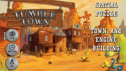 Tumble Town: the Dice Stacking Spatial Puzzle Game