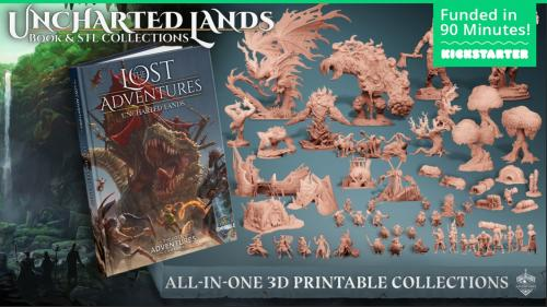 Uncharted Lands: Book & STL Collection