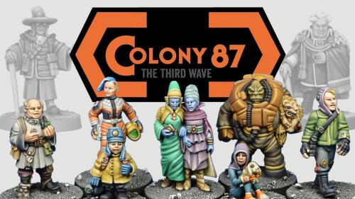 Colony 87 - The Third Wave - 28mm Sci-Fi Civilians