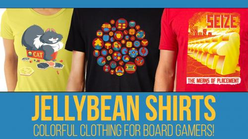 Jellybean Shirts - Colorful clothing for board gamers!