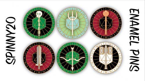 Spinny20 Hard Enamel Dice Pins