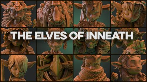 The Elves of Inneath (32mm fantasy miniatures)