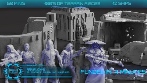 Arvalon 8, 3D Printable Sci-fi Terrain and Miniatures