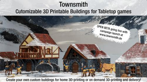 Townsmith - Customizable 3D Printable Fantasy Buildings