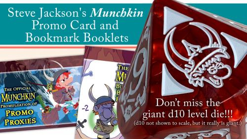 Steve Jackson s Munchkin Promo Card and Bookmark Booklets