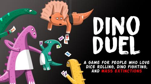 Dino Duel - a card game with dice, dinos, and extinctions!