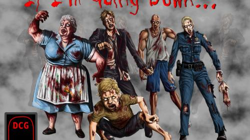 """If I m Going Down..."" A Zombie themed Dying Card Game"