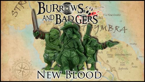 Burrows & Badgers: New Blood. Anthro animal miniatures