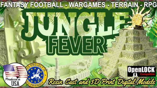 Jungle Fever: Resin cast and 3D printable scenery