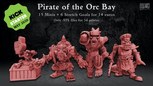 Pirate of the Orc Bay - 3D Printable Miniatures