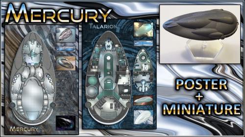 Mercury: Starship Map Poster & Miniature