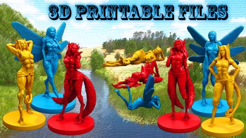 Women of Gevurah : Fantasy 3D Printable Tabletop Miniatures