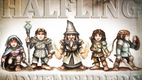 Halfling Adventurers Miniatures