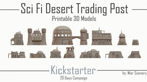 Sci-Fi Desert Trading Post - 3D Printable Terrain