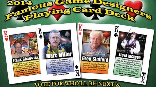 Famous Game Designer Playing Cards 2014