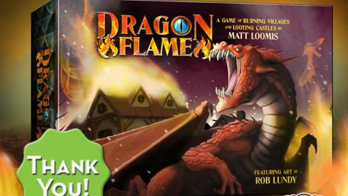 Dragonflame - a fiery card game for 2 to 5 players