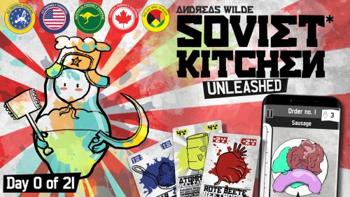 SOVIET KITCHEN UNLEASHED* - colorful coop cooking cardgame