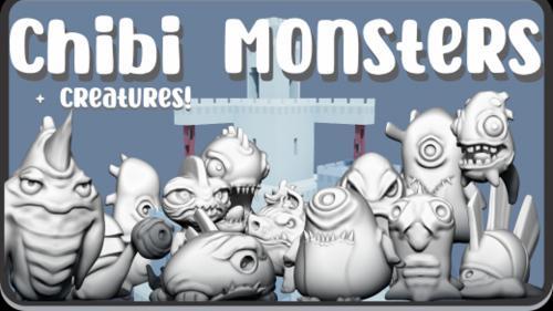 Chibi Monsters + Creatures - D&D 3D Files STL.
