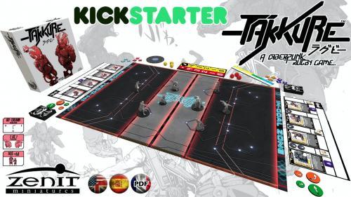 Takkure, a cyberpunk rugby game