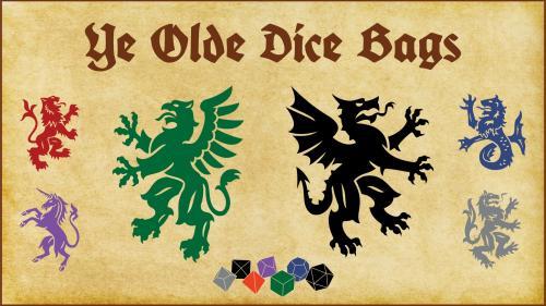Heraldry Themed Dice Bags