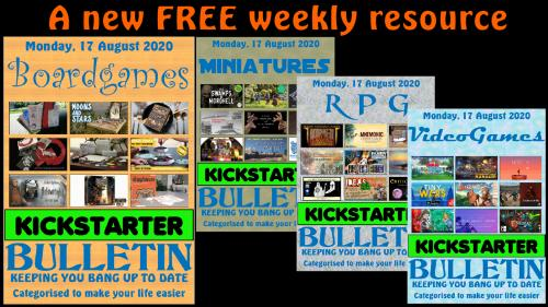 The Kickstarter Bulletin a new FREE weekly project resource.