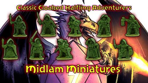 Classic Cloaked Halfling Adventurers