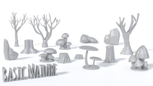 Basic Nature 3D printing files for Wargaming