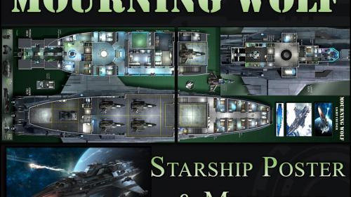 Mourning Wolf: Starship Map & Miniature