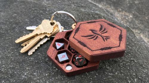 Hex Chest Mini Dice Boxes and Pebble Dice